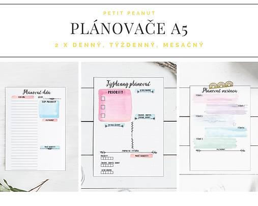 Plánovače - denný, týždenný a mesačný (Náplň do diára) PDF