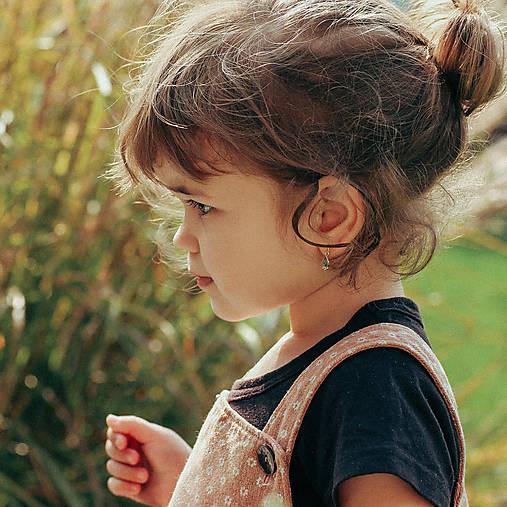 Detské zlaté náušnice s labradoritom - MALÁláska
