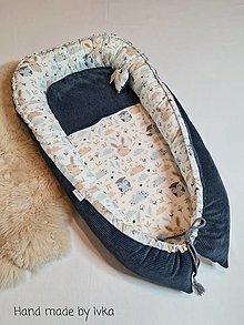 Textil - Hniezdo  pre bábätko :  mäkučký  tyrkysový bavlnený menšester - 12456855_