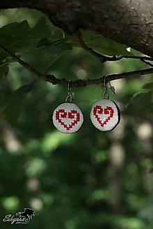 Náušnice - ... cez kamenské lúky *červené* - 12454520_