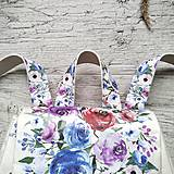 Batohy - Ruksak CANDY backpack -  krémová s potlačou maľovaných kvetov - 12457429_