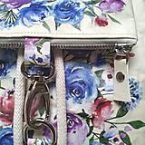 Batohy - Ruksak CANDY backpack -  krémová s potlačou maľovaných kvetov - 12457430_