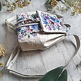 Batohy - Ruksak CANDY backpack -  krémová s potlačou maľovaných kvetov - 12457431_