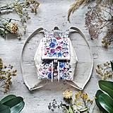 Batohy - Ruksak CANDY backpack -  krémová s potlačou maľovaných kvetov - 12457437_