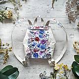 Batohy - Ruksak CANDY backpack -  krémová s potlačou maľovaných kvetov - 12457439_
