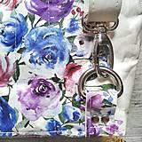 Batohy - Ruksak CANDY backpack -  krémová s potlačou maľovaných kvetov - 12457442_
