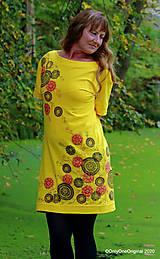 Šaty - Dámske šaty šité, batikované, maľované TRIŠTVRTE NA JESEŇ - 12454986_