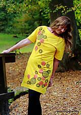 Šaty - Dámske šaty šité, batikované, maľované TRIŠTVRTE NA JESEŇ - 12455003_