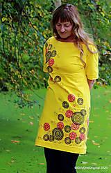 Šaty - Dámske šaty šité, batikované, maľované TRIŠTVRTE NA JESEŇ - 12455041_