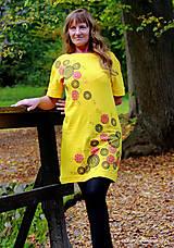 Šaty - Dámske šaty šité, batikované, maľované TRIŠTVRTE NA JESEŇ - 12455049_