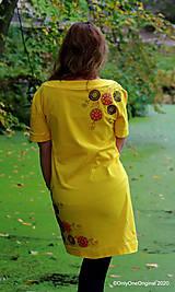 Šaty - Dámske šaty šité, batikované, maľované TRIŠTVRTE NA JESEŇ - 12455061_