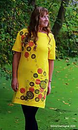 Šaty - Dámske šaty šité, batikované, maľované TRIŠTVRTE NA JESEŇ - 12455083_
