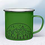 Nádoby - Zelený smaltovaný hrnček - 12454212_