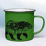 Nádoby - Zelený smaltovaný hrnček - 12454214_