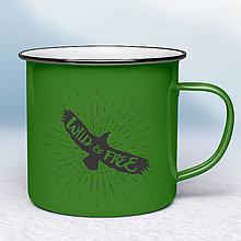 Nádoby - Zelený smaltovaný hrnček - 12454203_