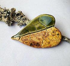 Odznaky/Brošne - keramická brošňa JESEŇ - 12457019_