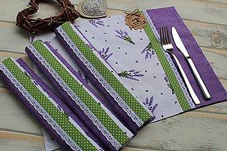 Úžitkový textil - Levandulové prestieranie - 12456290_