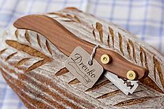 Pomôcky - Drevko - nožík na narezávanie chleba / slivka - 12459008_