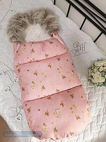 Textil - Fusak do kočíka ružovy - 12454633_