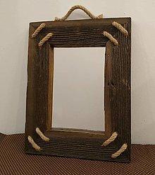 Zrkadlá - Zrkadlo zo starého dreva - 12456706_
