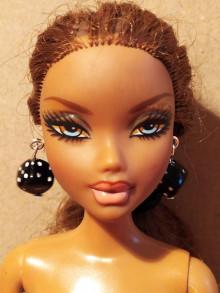 Hračky - Náušnice pre Barbie, kocky - 12457053_
