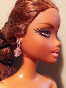 Hračky - Barbie, ružové náušnice - 12457081_