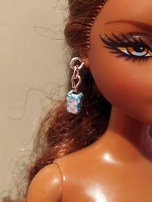 Hračky - Tyrkysové náušnice pre Barbie - 12457102_