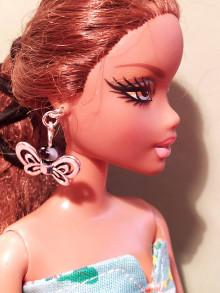 Hračky - Barbie, motýlikové náušnice - 12457166_
