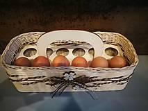 Košíky - Košík na vajíčka - 12457044_
