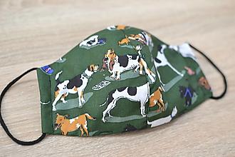 Rúška - pánske ochranné rúško (Zelená) - 12455377_