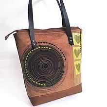 """Veľké tašky - Veľká taška """"Srdcovka v hnedej"""" - 12456705_"""