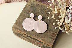 Náušnice - Visiace náušnice - ružové pastelové - dážď - 12456321_