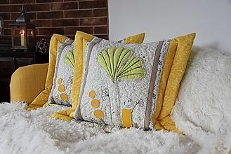 Úžitkový textil - Vankúš Ginkgo - 12458269_
