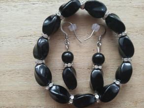 Sady šperkov - Decentný set s rondelkami,CHO - 12456536_