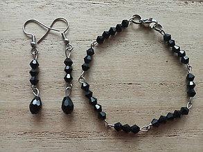 Sady šperkov - Set s bicone korálkami,CHO - 12456580_