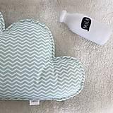 "Textil - Oblak/Mantinel  ""Mint Chevron"" - 12455535_"