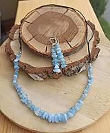 Sady šperkov - SETIK z prírodného akvamarinu - 12459729_