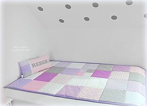Úžitkový textil - Prehoz Teennager Basic 120x205cm Violet - 12463870_