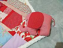 Textil - Ružové pohladenie - 12464059_