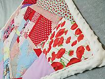 Textil - Ružové pohladenie - 12464060_