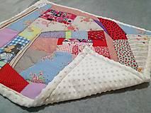 Textil - Ružové pohladenie - 12464062_
