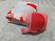 Textil - Ružové pohladenie - 12464063_