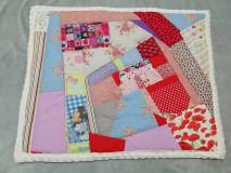 Textil - Ružové pohladenie - 12464065_