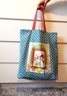 Nákupné tašky - Nákupná taška - Dievča s kvetmi - 12462026_