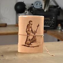 Papiernictvo - kožený zápisník s peračníkom FRANCESCO - 12461517_
