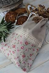 Úžitkový textil - Vrecko ružička - 12461560_