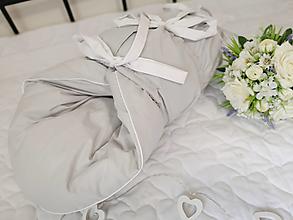 Textil - Paperová zavinovačka šedá s bielym detailom - 12460408_