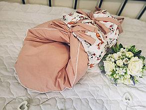 Textil - Paperová zavinovačka ružová so srnkami - 12460419_