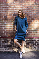 Šaty - Šaty Carrie jacquard - petrolejové - 12463658_