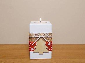 Svietidlá a sviečky - Vianočný svietnik 🌲 - 12462613_